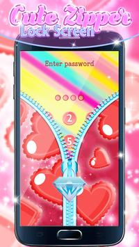 Cute Zipper Lock Screen screenshot 4