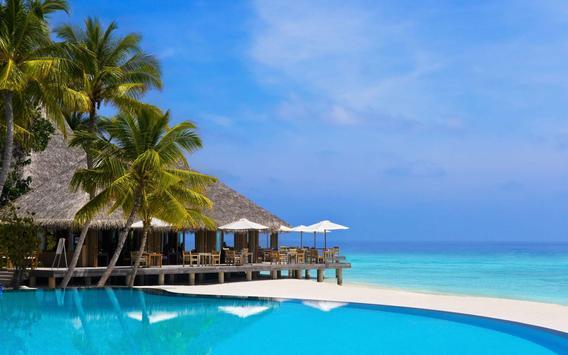 Beach Live Wallpaper HD Tropical Backgrounds Apk Screenshot