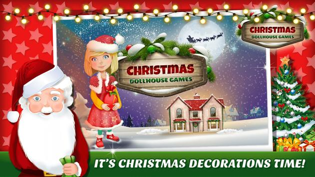 christmas dollhouse games 3d poster