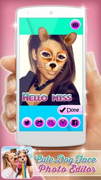 Cute Dog Face Photo Editor apk screenshot