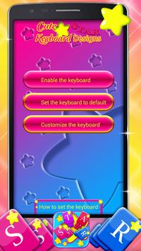 Cute Star Keyboard Designs poster
