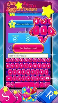 Cute Star Keyboard Designs screenshot 1