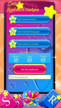 Cute Star Keyboard Designs screenshot 4