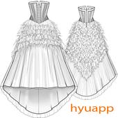 Beautiful Dress Sketch icon