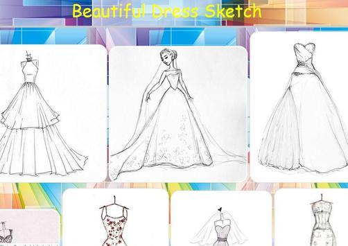 Beautiful Dress Sketch poster