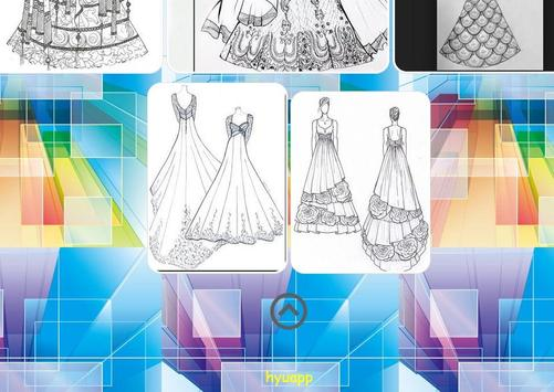 Beautiful Dress Sketch screenshot 2