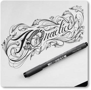 Beautiful Hand Lettering Desings Ideas poster