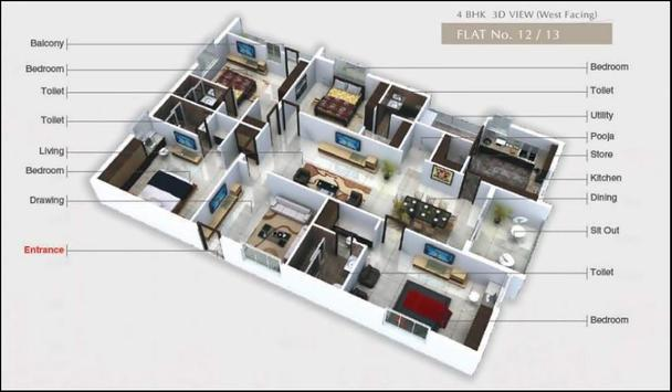 Beautiful Large House Plans 3D 2018 screenshot 10