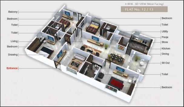 Beautiful Large House Plans 3D 2018 screenshot 14