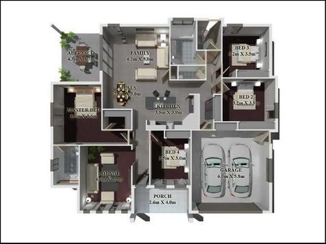 Beautiful Large House Plans 3D 2018 screenshot 1