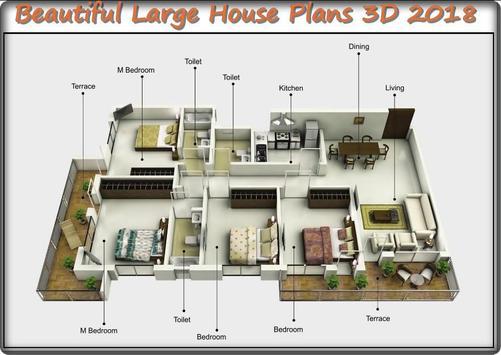 Beautiful Large House Plans 3D 2018 screenshot 3