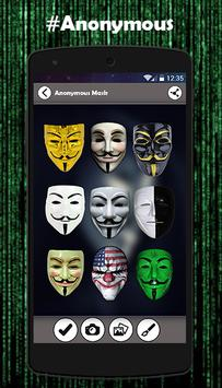 Anonymous Mask Photo Maker poster