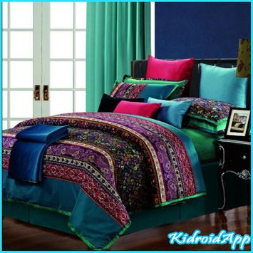 Bed spread Design poster