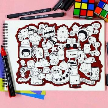 Learn to Draw a Colored Doodle apk screenshot
