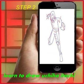 Learn to Draw Itachi apk screenshot