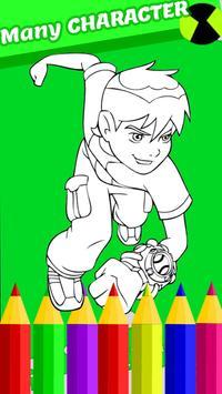 Ben Ultimate Alien Coloring 10 Game Poster