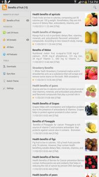 Benefits of fruit screenshot 1