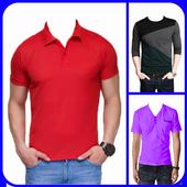Men T-Shirt Designs Photo Montage icon
