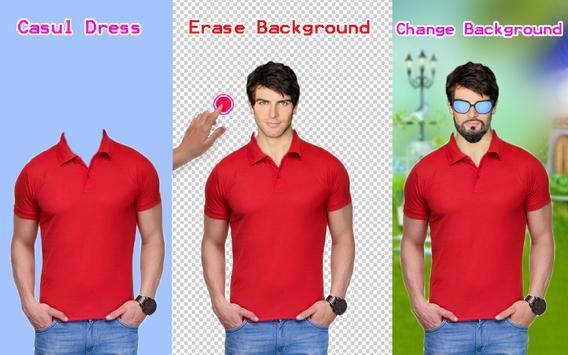 Men T-Shirt Designs Photo Montage poster