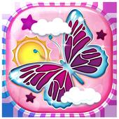Purple Butterfly HD Wallpaper icon