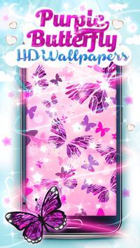 Purple Butterfly HD Wallpaper apk screenshot
