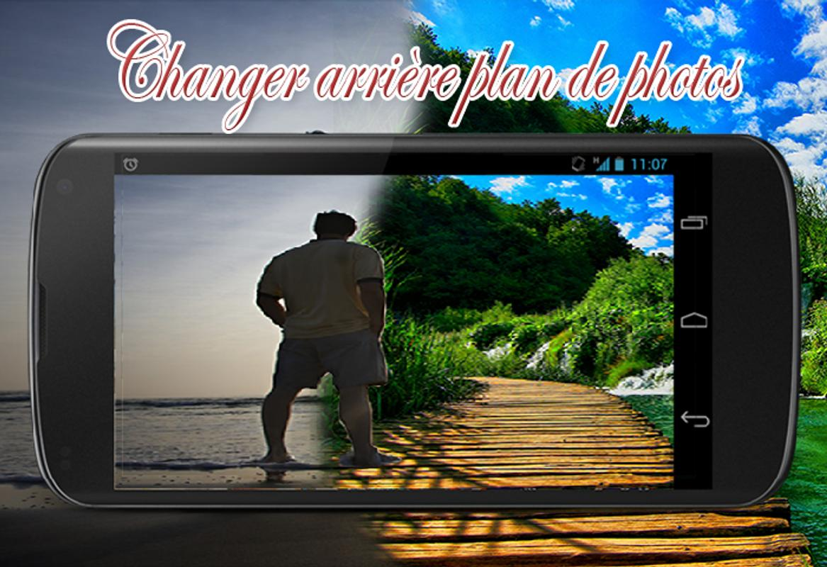 changer arriere plan photo android
