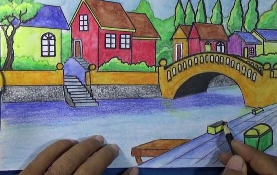 Best Drawing a scenery screenshot 5
