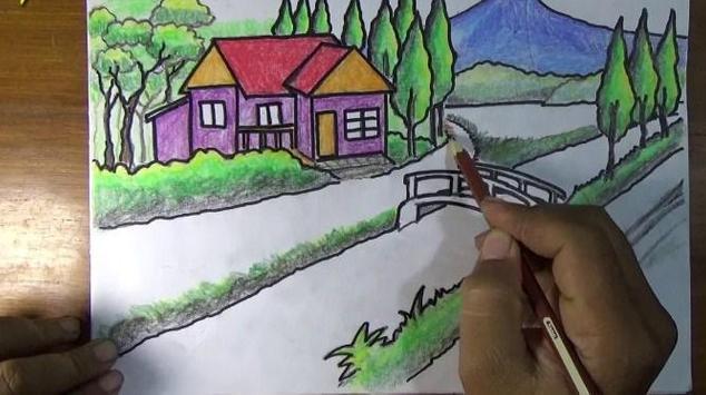 Best Drawing a scenery screenshot 7