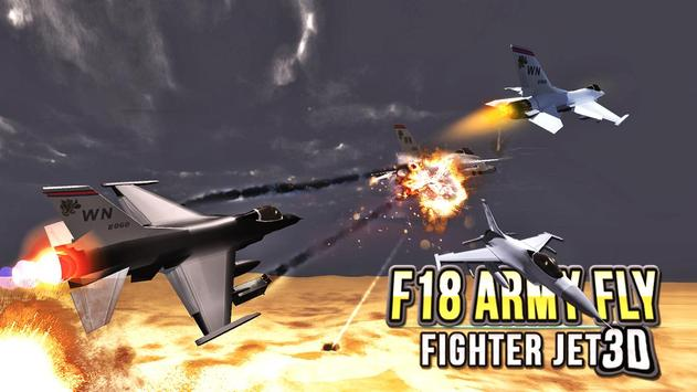 F18 Army Fly Fighter Jet 3D screenshot 3
