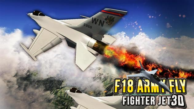 F18 Army Fly Fighter Jet 3D screenshot 1