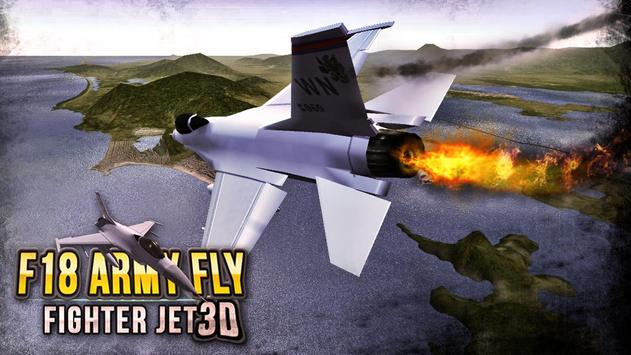 F18 Army Fly Fighter Jet 3D screenshot 2