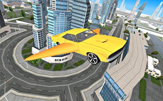 Flying Car Driving 3D screenshot 1