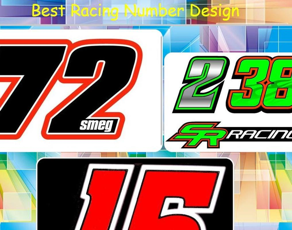 Desain nomor racing terbaik poster