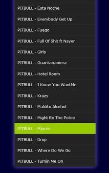 pitbull - mp3 apk screenshot