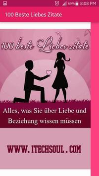 100 Beste Liebes Zitate poster