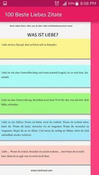 100 Beste Liebes Zitate screenshot 1