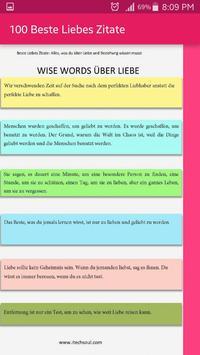 100 Beste Liebes Zitate screenshot 3