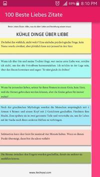 100 Beste Liebes Zitate screenshot 4