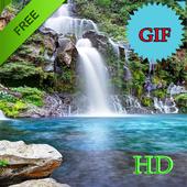 Waterfall Live Wallpaper GIF icon