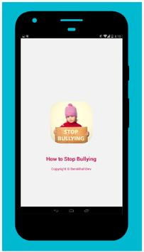 How to Stop Bullying poster