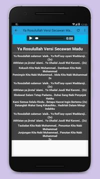 sholawat nabi and rosul+lirik apk screenshot