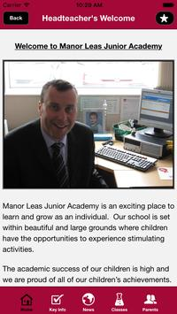 Manor Leas Junior Academy apk screenshot