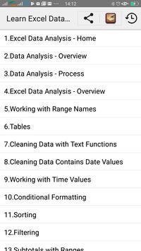 Learn Excel Data Analysis for Android - APK Download
