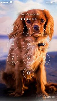Dog Cute Spaniel Puppy Smart Screen Lock screenshot 1