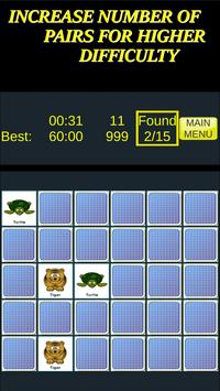 Pairs & More Memory Matching Game capture d'écran 1