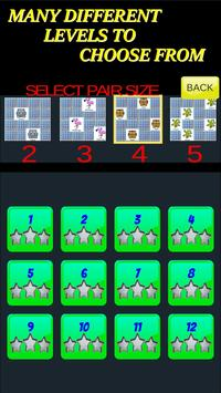 Pairs & More Memory Matching Game capture d'écran 4