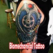 Biomechanical Tattoo Design icon