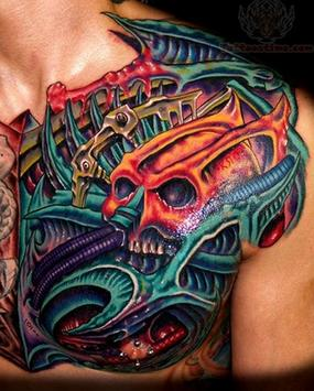Biomechanical Tattoo Design apk screenshot