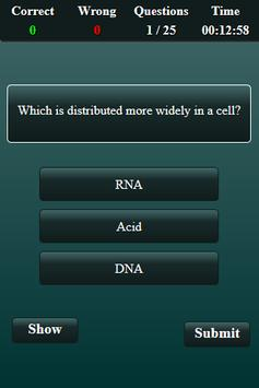 Biomolecular Science Quiz screenshot 2