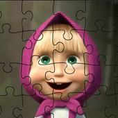Masha Puzzle App with Bear icon